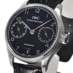 RГ©plique IWC Portugaise RГ©serve de marche Jour 7 Black Watch IW500109